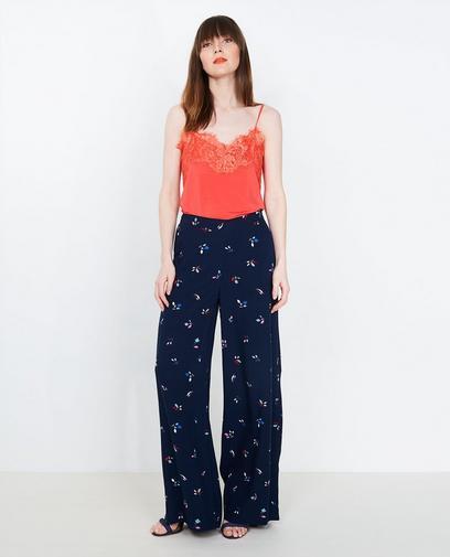 Nachtblauwe soepele broek